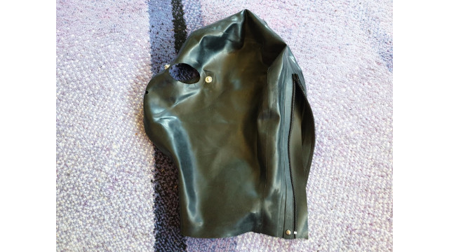 Black Latex Hood with Only Eyes