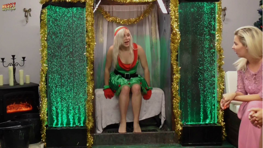 Christmas Elf Dress (with Gloves and Hat)