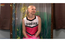 Apt 19: Cheerleader Outfit + Pom Poms! (STAINED)