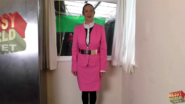 Bright Pink Business Suit