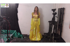 Yellow Cosplay Dress with accessories